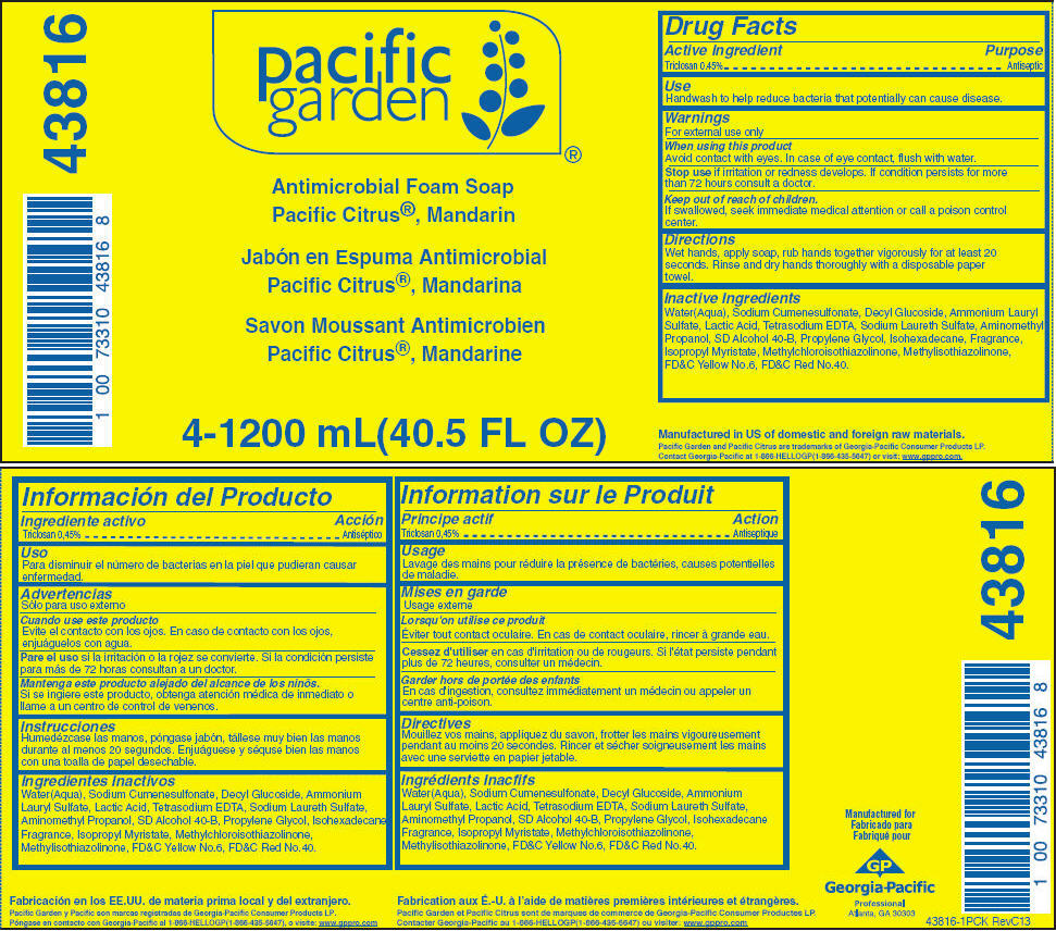 Pacific Garden Antimicrobial, Pacific Citrus, Mandarin (Triclosan) Soap [Georgia-pacific Consumer Products Lp]