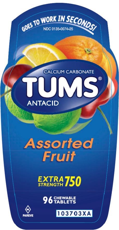 Tums Ex (Calcium Carbonate) Tablet Tums Ex (Calcium Carbonate) Kit [Glaxosmithkline Consumer Heathcare Lp]