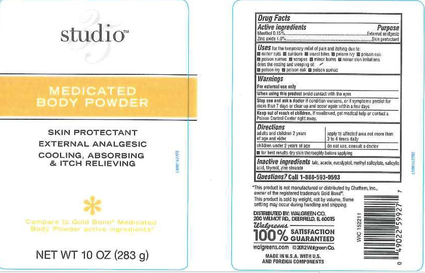 Body (Menthol, Zinc Oxide) Powder [Walgreen Co.]