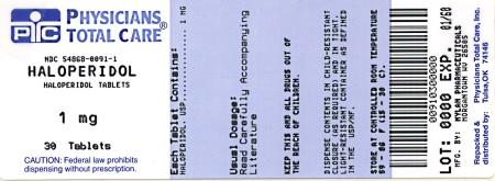 Haloperidol Tablets 1 mg Bottles