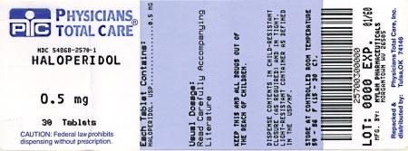 Haloperidol Tablets 0.5 mg Bottles