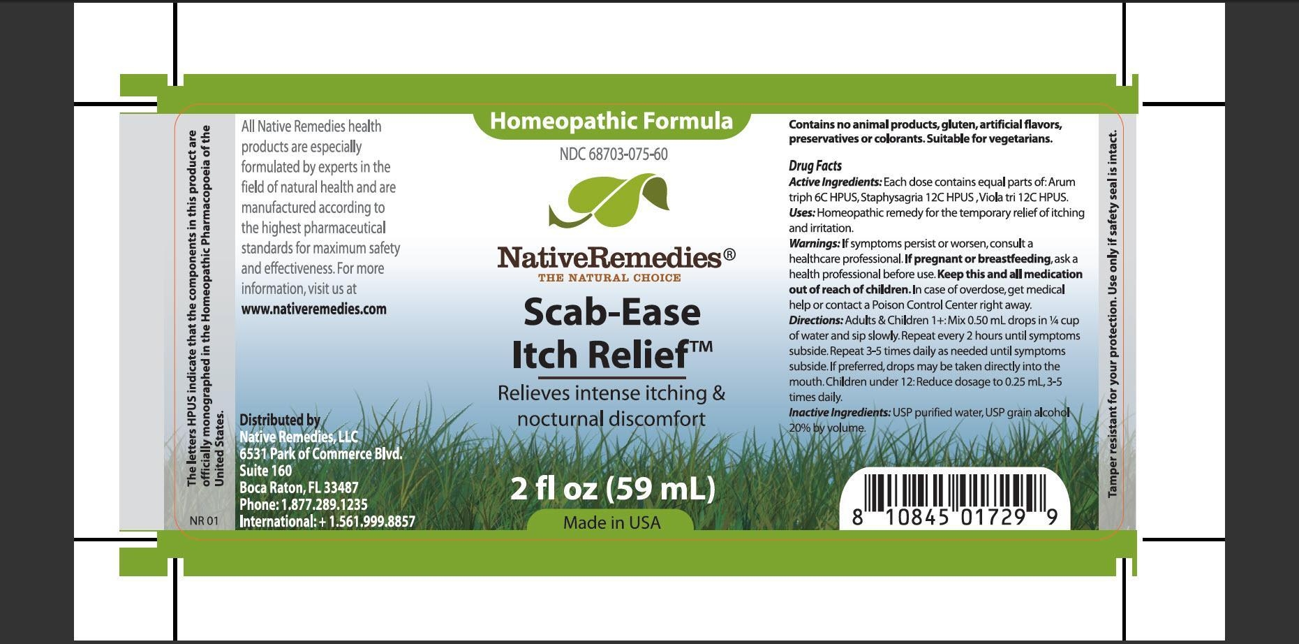 Scab-ease Itch Relief (Arum Triph, Staphysagria, Viola Tri) Tincture [Native Remedies, Llc]
