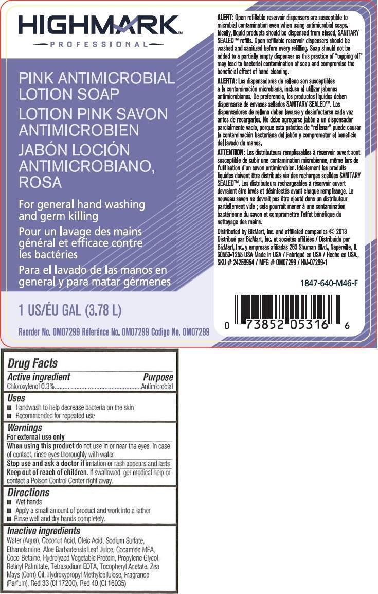 Highmark Professional Pink Antimicrobial Ltn Sp (Chloroxylenol) Liquid [Office Max, Inc.]