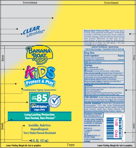 PRINCIPAL DISPLAY PANEL Banana Boat Kids Protect and Play SPF 85