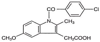 Indomethacin structural formula