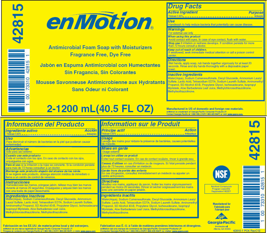Enmotion Antimicrobial With Moisturizers, Fragrance Free, Dye Free (Triclosan) Soap [Georgia-pacific Consumer Products Lp]
