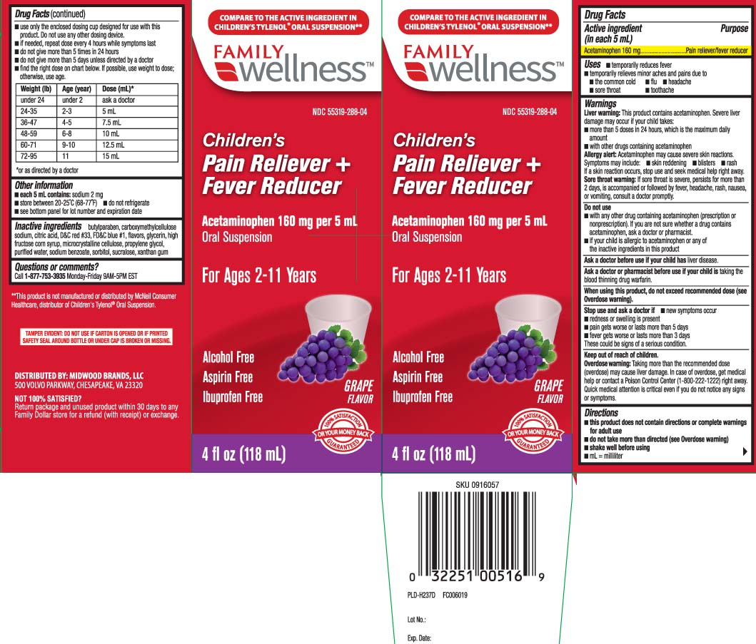 Childrens Acetaminophen (Acetaminophen) Suspension [Family Dollar (Family Wellness)]