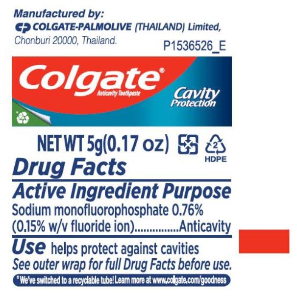 Colgate Anticavity Toothpaste (Sodium Monofluorophosphate) Paste, Dentifrice [Colgate-palmolive (Thailand) Limited]