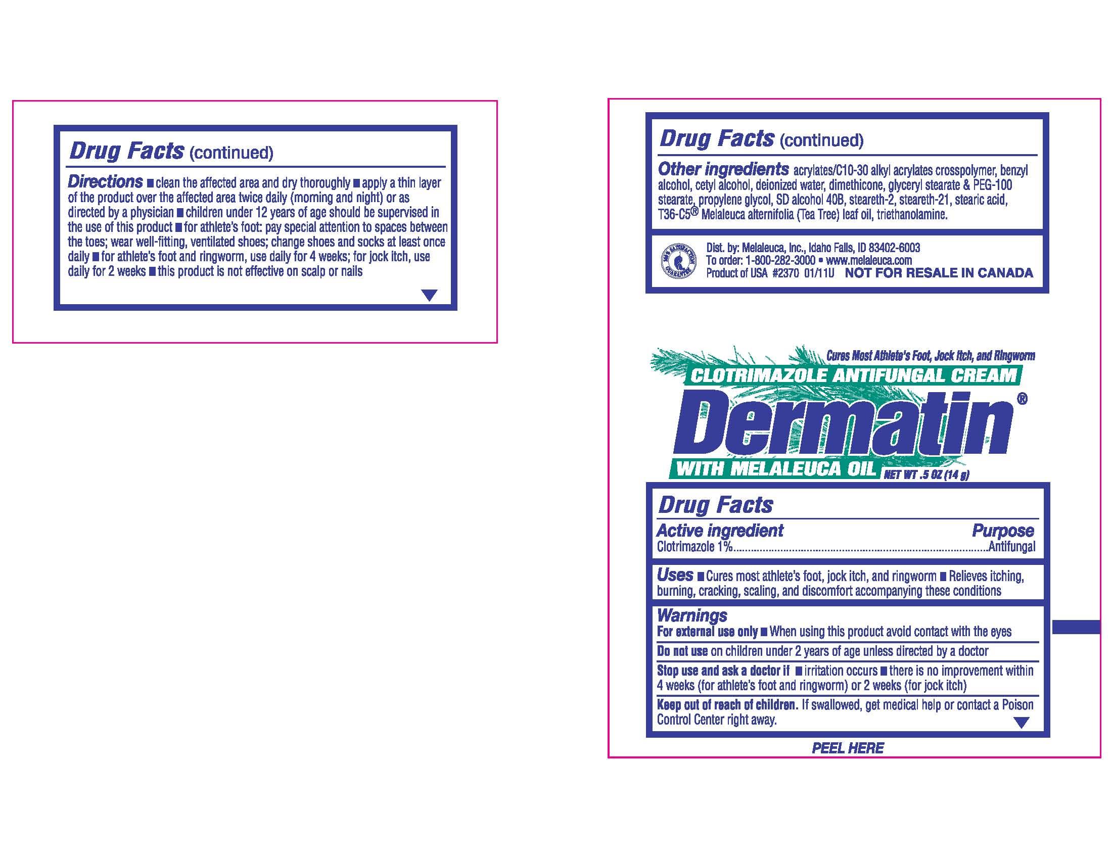 Dermatin Antifungal (Clotrimazole) Cream [Melaleuca, Inc.]