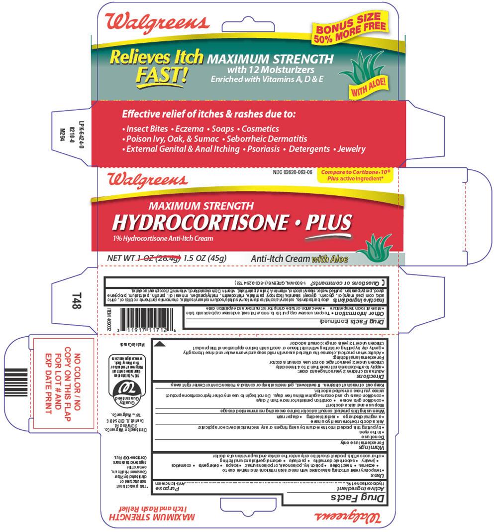 Hydrocortisone Plus (Hydrocortisone) Cream [Walgreens]