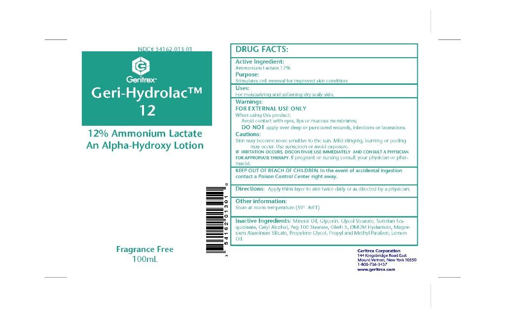 Geri-hydrolac (Ammonium Lactate) Lotion [Geritrex Corp]