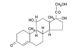 Hydrocortisone (structural formula)