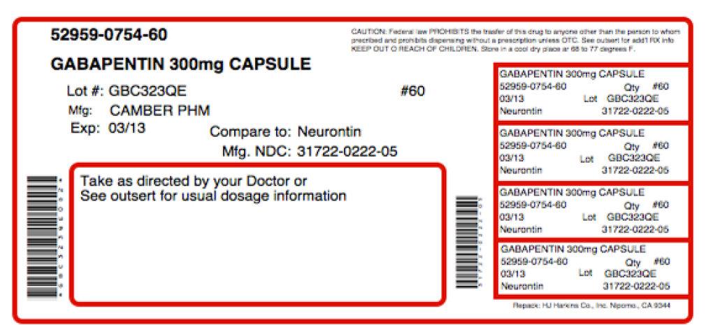 Therapentin-60 (Gabapentin, .gamma.-aminobutyric Acid) Kit [Physician Therapeutics Llc ]