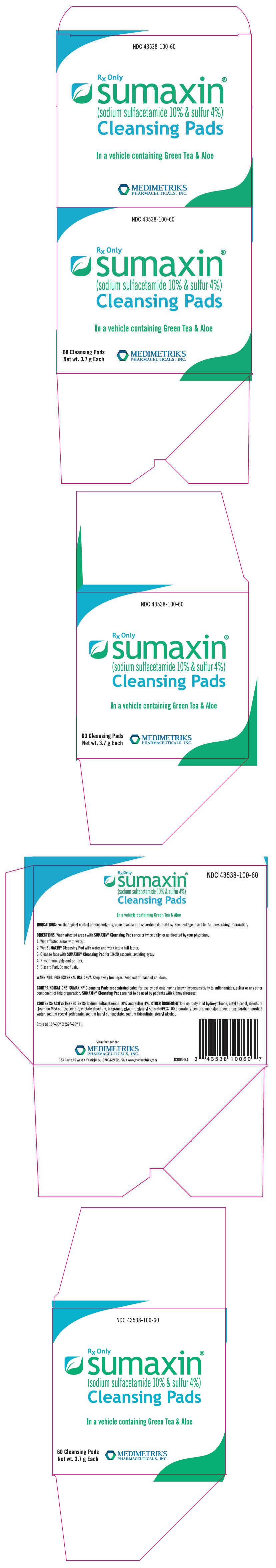 Sumaxin Cleansing Pads (Sulfacetamide Sodium And Sulfur) Cloth Sumaxin Cp (Sulfacetamide Sodium And Sulfur) Kit [Medimetriks Pharmaceuticals, Inc.]