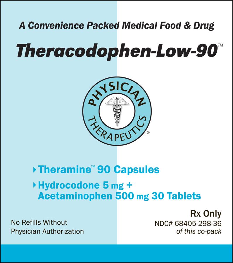 Theracodophen-low-90 (Hydrocodone Bitartrate, Acetaminophen, .gamma.-aminobutyric Acid) Kit [Physician Therapeutics Llc]