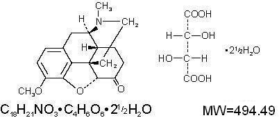 Hydrocodone Bitartrate Chemical Structure