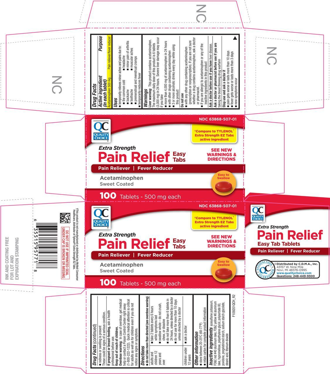 Pain Relief Extra Strength (Acetaminophen) Tablet, Coated [Chain Drug Marketing Association]