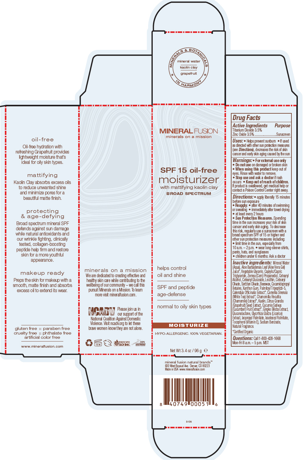 Moisturizer Spf 15 (Titanium Dioxide And Zinc Oxide) Cream [Mineral Fusion Natural Brands]