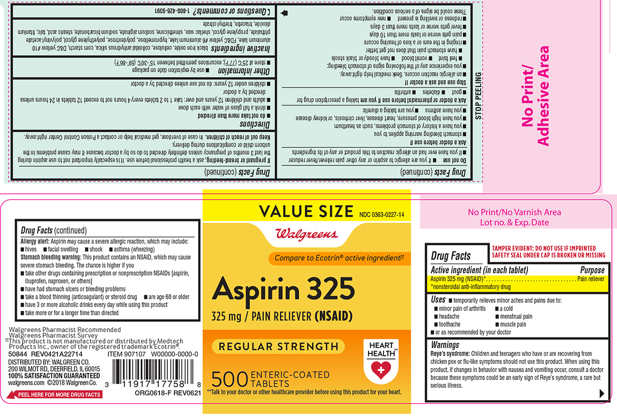 Safety Coated Enteric Aspirin (Aspirin) Tablet, Coated [Walgreen Co.]
