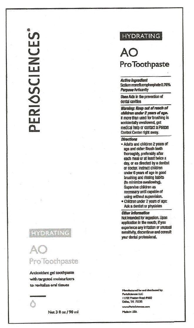 Periosciences Hydrating Ao Pro (Sodium Monofluorophosphate) Paste, Dentifrice [Periosciences Llc]