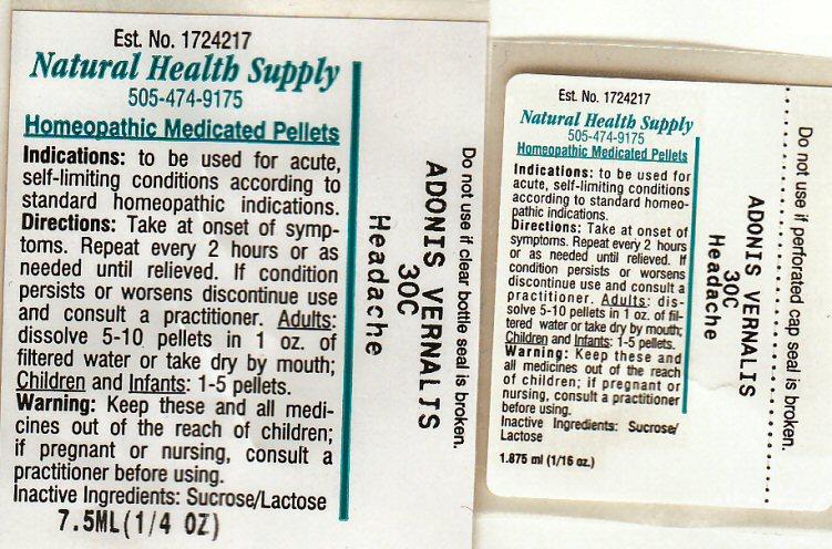 Nhs Headache (Adonis Vernalis) Pellet [Natural Health Supply]