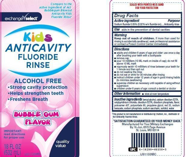 Kids Flouride Rinse (Sodium Fluoride) Rinse [Army + Air Force Exchange Service]