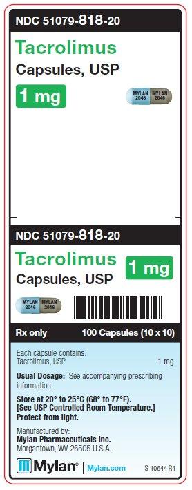 Tacrolimus 1 mg Capsule Unit Carton Label