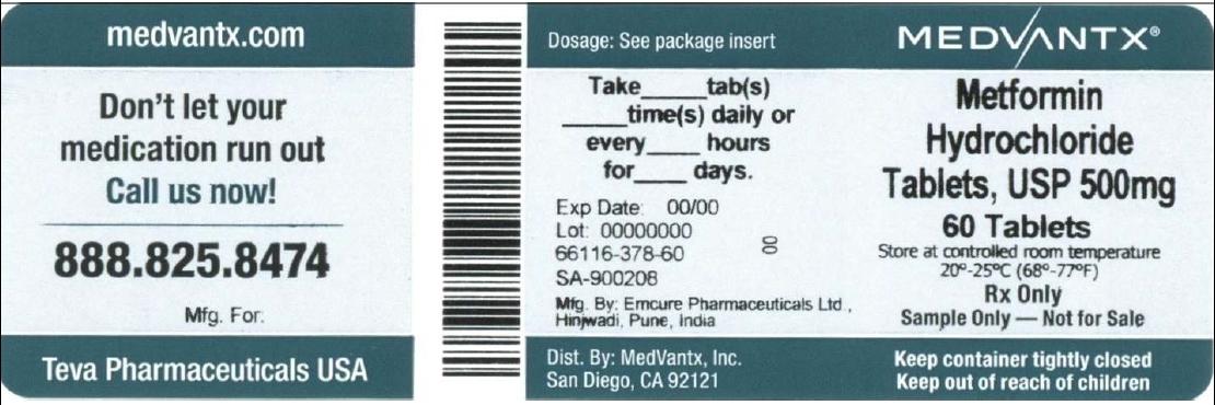 Metformin Hydrochloride Tablet, Film Coated [Medvantx, Inc.]