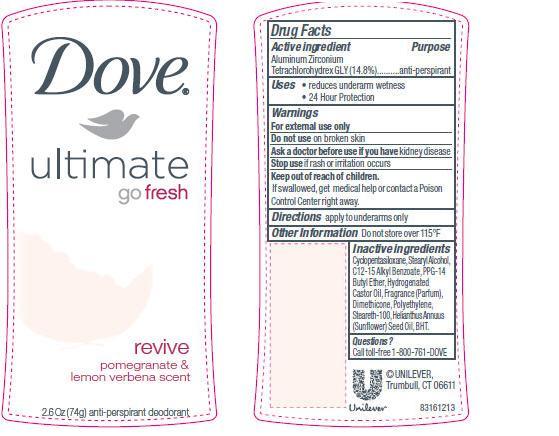 Dove Ultimate Go Fresh Revive (Antiperspirant And Deodorant) Stick [Conopco Inc. D/b/a Unilever]