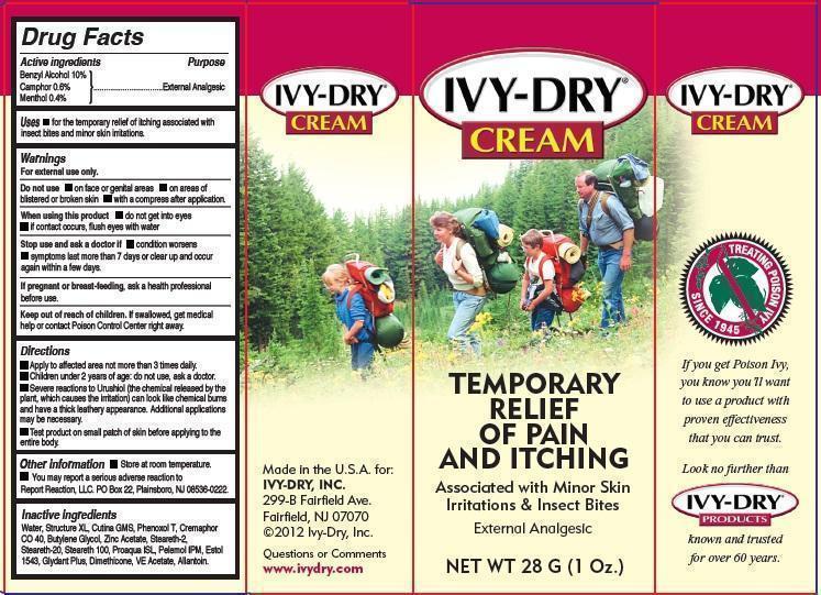 Ivy Dry (Benzyl Alcohol, Camphor, Menthol) Cream [Ivy Dry, Inc.]