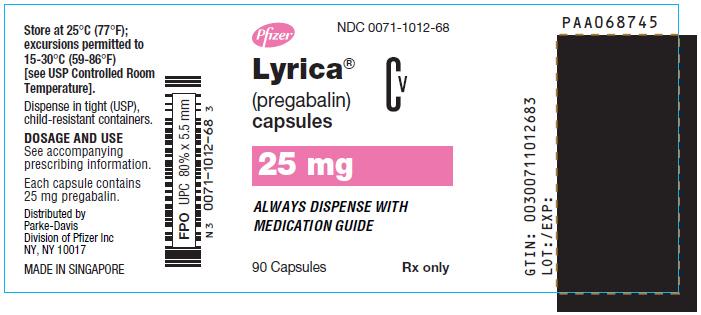 Lyrica (Pregabalin) Capsule Lyrica (Pregabalin) Solution [Parke-davis Div Of Pfizer Inc]