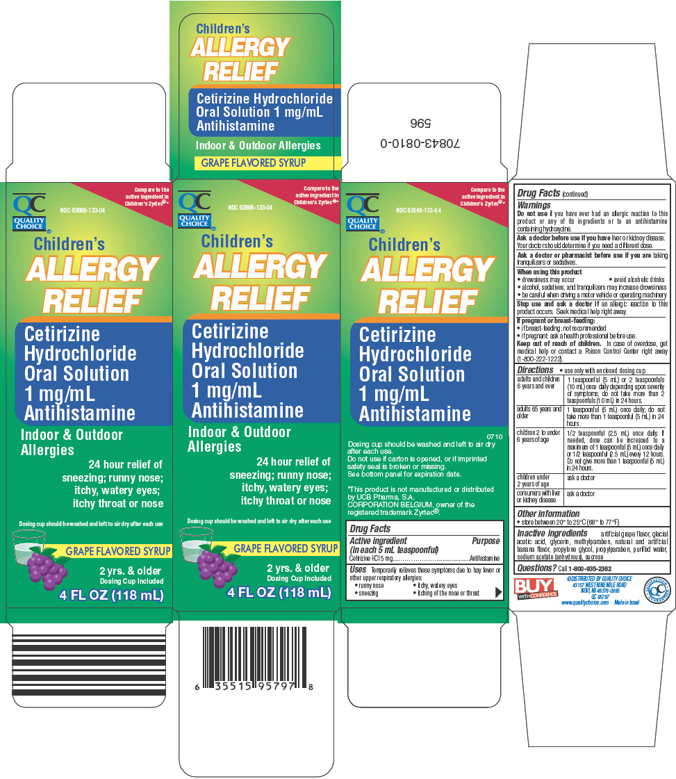 Quality Choice Childrens Allergy Relief (Cetirizine Hydrochloride) Solution [Chain Drug Marketing Association]