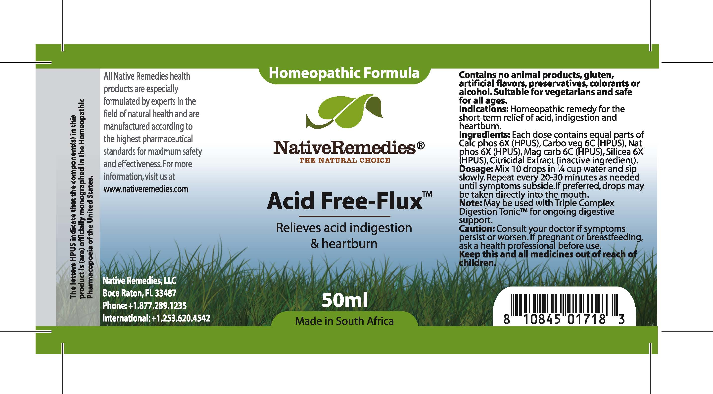 Acid Free-flux (Calc Phos, Carbo Veg, Nat Phos , Mag Carb, Silicea) Tincture [Feelgood Health]