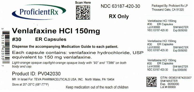 Venlafaxine Hydrochloride Capsule, Extended Release [Proficient Rx Lp]
