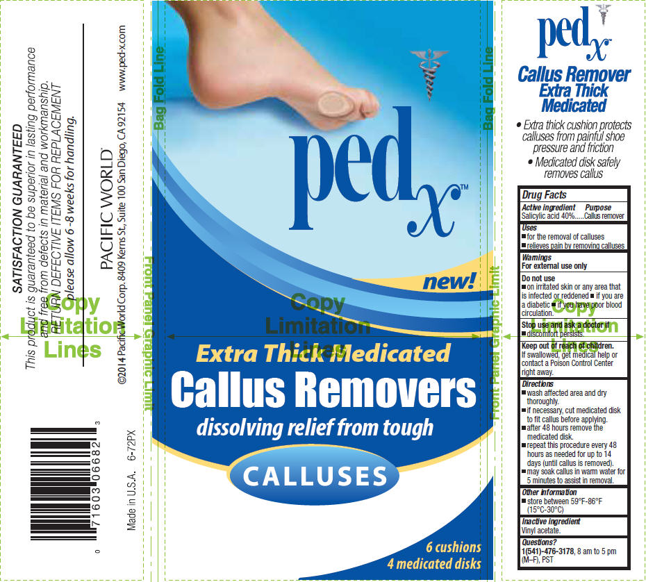 Ped X Callus Removers, Extra Thick Medicated (Salicylic Acid) Patch Ped X Callus Removers, Medicated (Salicylic Acid) Patch [Pacific Word Corporation]