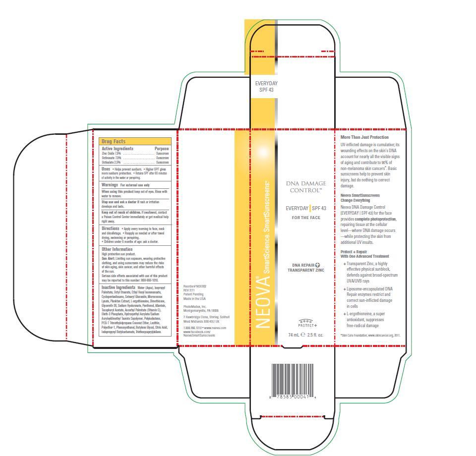 Neova Dna Damage Control – Everyday Spf 43 (Zinc Oxide, Octinoxate, Octisalate) Emulsion [Photomedex, Inc.]