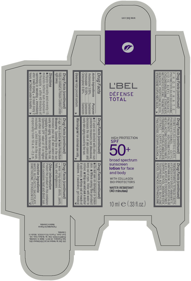 Lbel Defense Total Broad Spectrum Spf 50plus Sunscreen For Face And Body (Avobenzone, Homosalate, And Octocrylene) Lotion [Ventura Corporation Ltd]