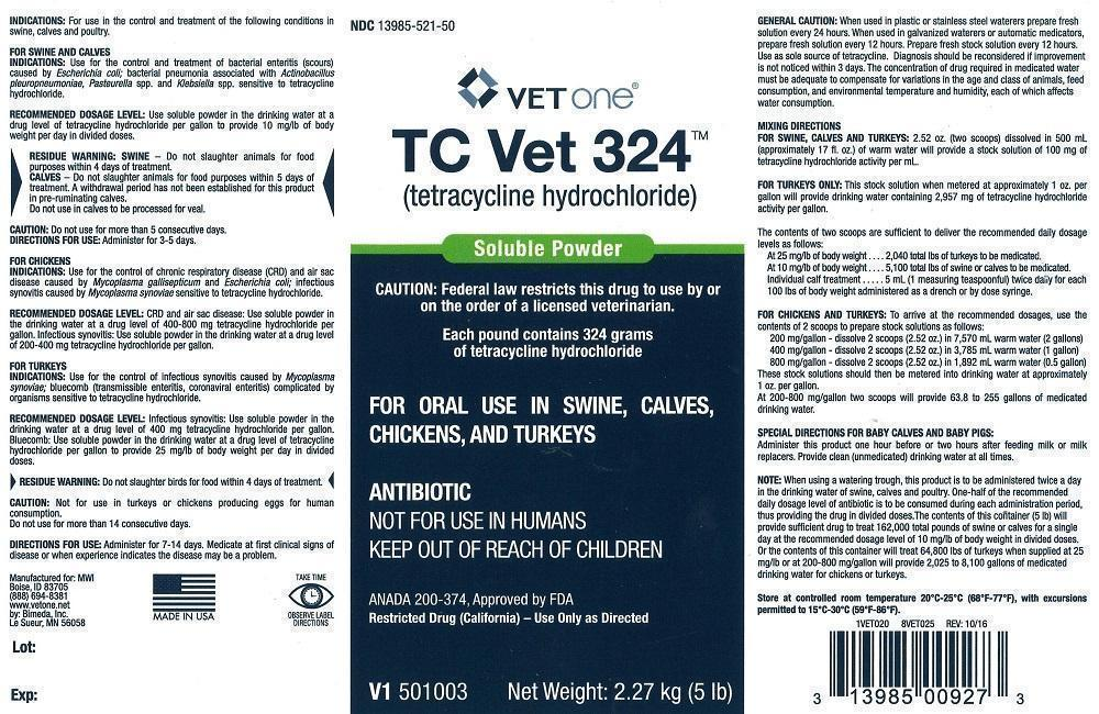 Tetracycline Hydrochloride (Tc Vet 324) Powder [Vetone]