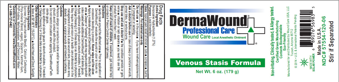 Dermawound Wound Care Venous Stasis (Benzocaine Hydrochloride) Ointment [Wound Care Usa, Llc]