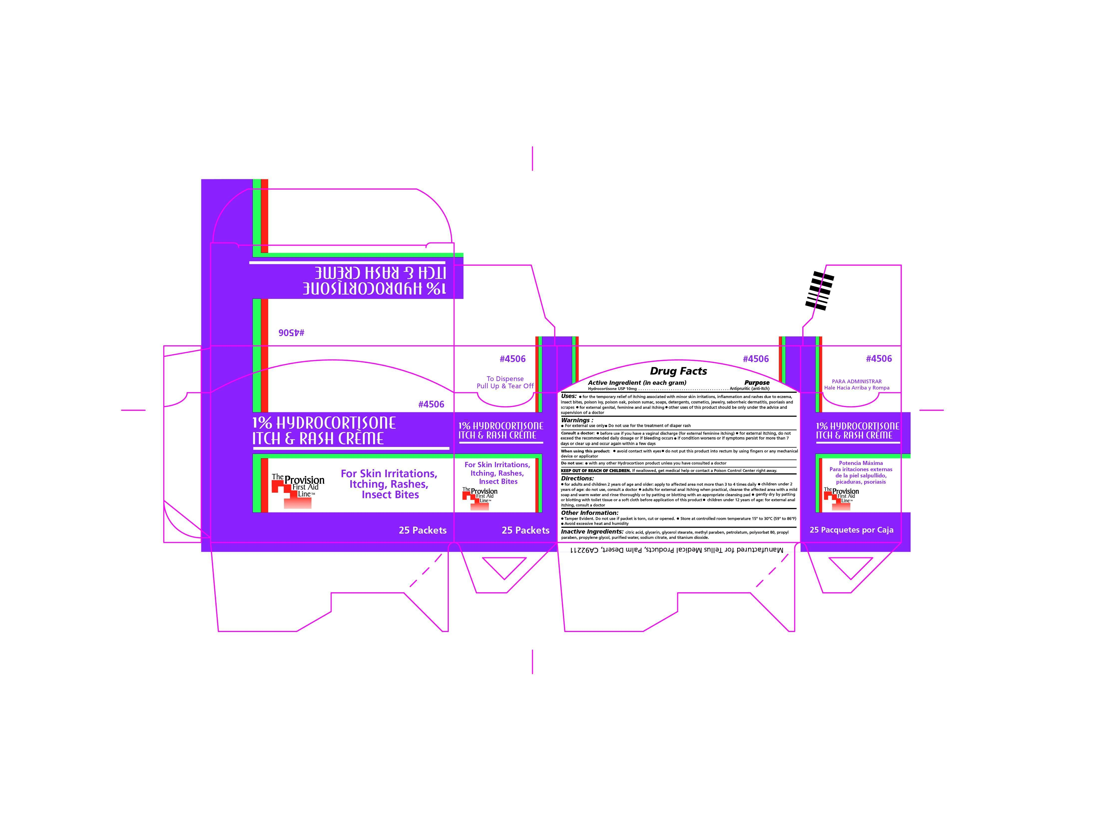Itch And Rash Cream (Hydrocortisone) Cream [Provision Medical Products]