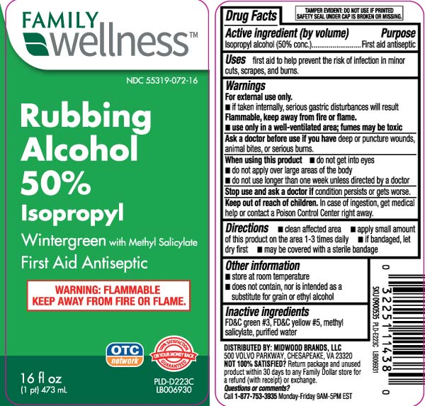 Isopropyl Rubbing Alcohol 50 Percent Wintergreen (Isopropyl Alcohol) Liquid [Family Dollar (Family Wellness)]
