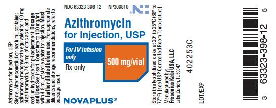 Azithromycin (Azithromycin Monohydrate) Injection, Powder, Lyophilized, For Solution [Fresenius Kabi Usa, Llc]