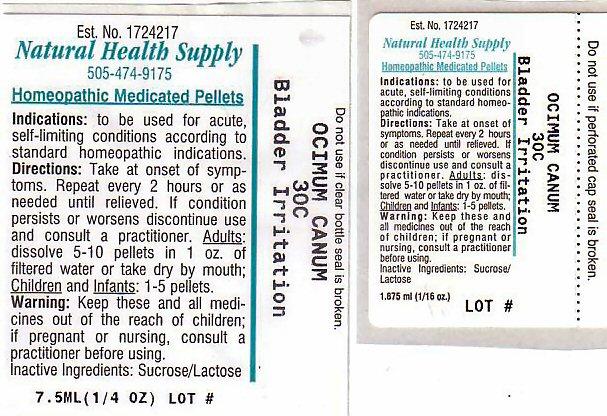 Bladder Irritation (Ocimum Americanum Leaf) Pellet [Natural Health Supply]