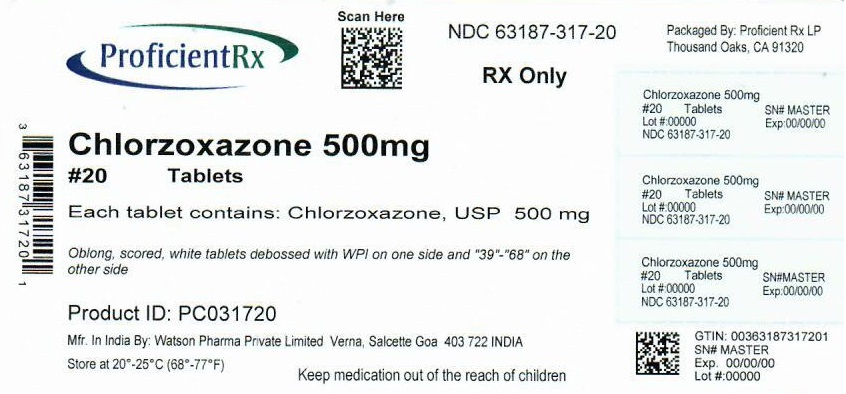Chlorzoxazone Tablet [Proficient Rx Lp]