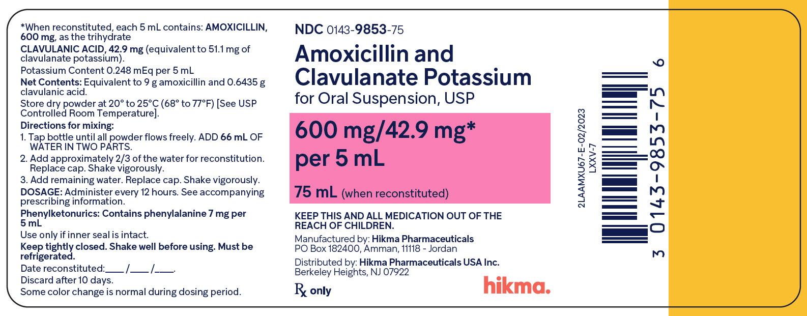 Amoxicillin And Clavulanate Potassium Suspension [West-ward Pharmaceutical Corp]
