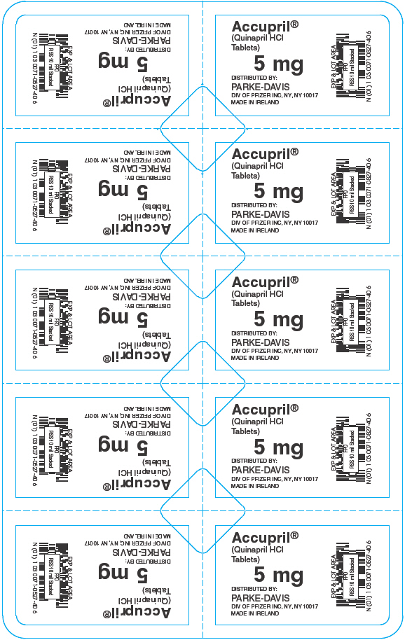PRINCIPAL DISPLAY PANEL - 5 mg Blister Pack