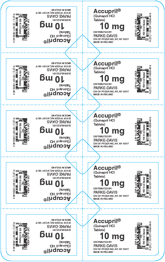 PRINCIPAL DISPLAY PANEL - 10 mg Blister Pack