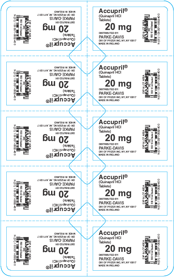 PRINCIPAL DISPLAY PANEL - 20 mg Blister Pack