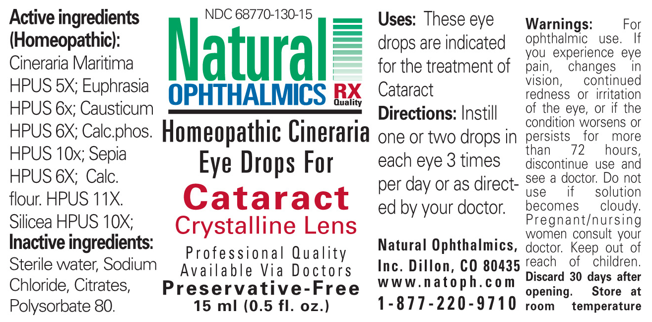 Cataract Crystalline Lens (Cineraria Maritima, Euphrasia Strictica, Causticum, Calcarea Phosphorica, Sepia, Calcarea Flourica, Silicea) Liquid [Natural Ophthalmics, Inc]