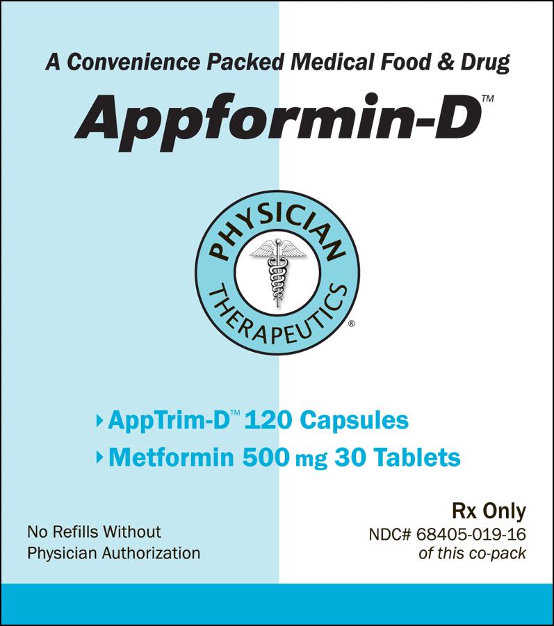 Appformin-d (Metformin Hydrochloride, Tyrosine) Kit [Physician Therapeutics Llc]